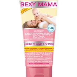 Bielenda Sexy Mama Skuteczny Balsam nawilżający do ciała, przeciw podrażnieniom i suchości skóry