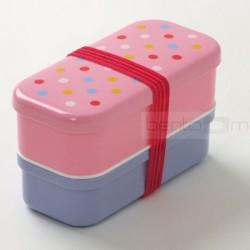 Bento Box Kitsch- różowo-fioletowy, pudełko śniadaniowe