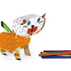 Kolorowanki 3D – Zwierzęta. Kartonowe zabawki edukacyjne