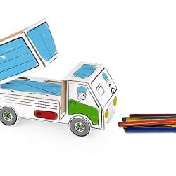 Kolorowanki 3D – Pojazdy. Kartonowe zabawki edukacyjne
