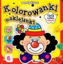 """""""Kolorowanki naklejanki – Wesoły Klaun"""""""