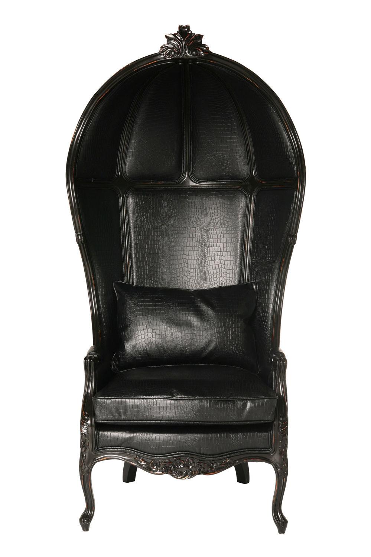 Kare design fotel roof kroko czarny w roli mamy Kare fotel
