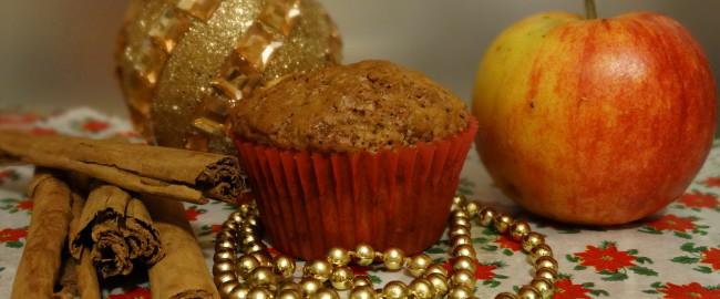 Świąteczne muffiny cynamonowo – jabłkowe