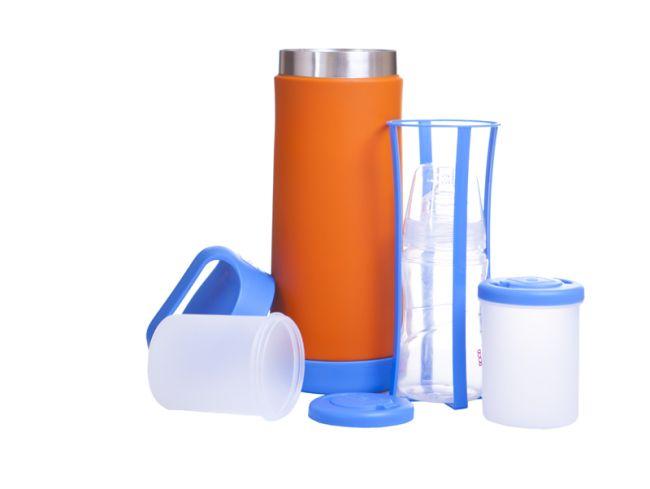 Termos do butelek i do żywności niebiesko- pomarańczowy 40 settimane-1