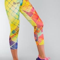 Kolorowe legginsy ¾ Nessi