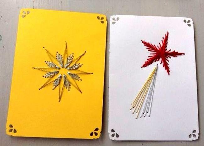 Szablony kartek wykonanych metodą quilling i wyszywane