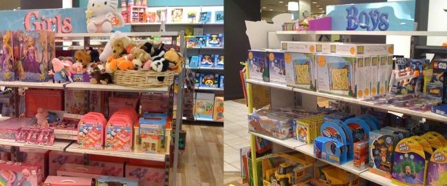 Dziewczynki na lewo, chłopcy na prawo – stereotypy płci w sklepie z zabawkami