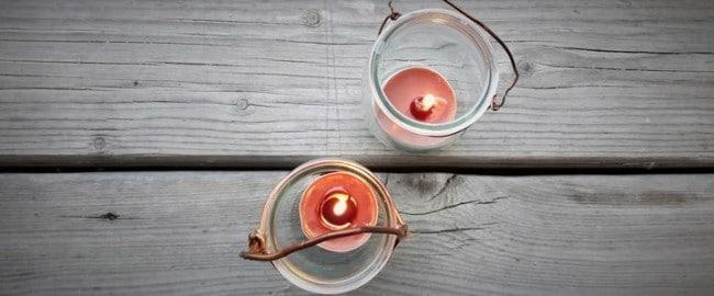Lampiony – czyli domowy sposób na zatrzymanie blasku świec na dworze