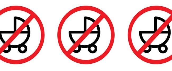 Z wózkiem wstęp wzbroniony!