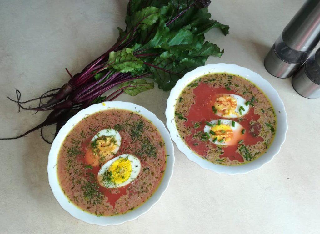 zupa z botwiny na gorąco