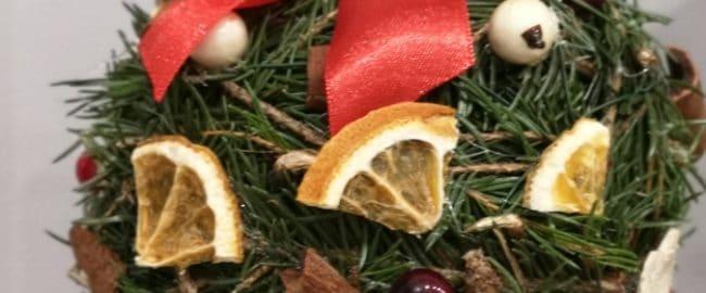 Eko bombka pachnąca Świętami