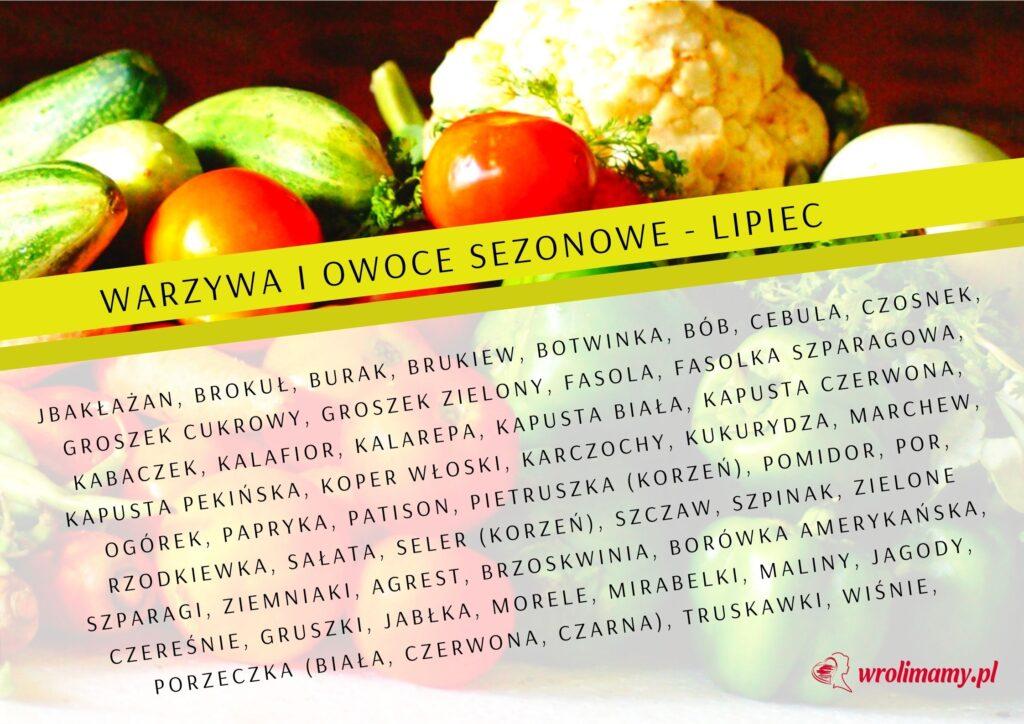 Kalendarz warzyw i owoców sezonowych